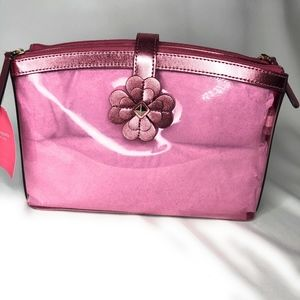 Kate Spade Pink  Double Compartment Make up Bag